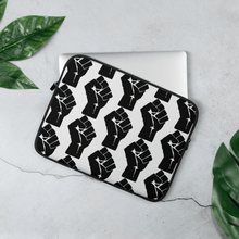 Load image into Gallery viewer, Chocolate Ancestor, LLC- Black Power Fist Pattern Laptop Sleeve ${varant_title} Laptop sleeve