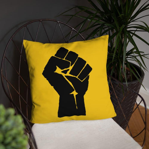 Chocolate Ancestor, LLC- Black Power Fist Square Pillow ${varant_title} Pillow