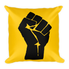 Black Power Fist Square Pillow - Chocolate Ancestor