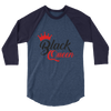 Black Queen 3/4 sleeve raglan t-shirt - Chocolate Ancestor