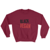 Black Vegan Unisex Crewneck Sweatshirt - Chocolate Ancestor