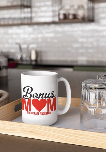 Chocolate Ancestor, LLC- Bonus Mom Mug ${varant_title} Coffee Mug