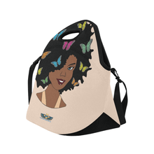 Load image into Gallery viewer, Chocolate Ancestor, LLC- Chocolate Butterfly Diva Lunch Bag ${varant_title} Lunch Bag