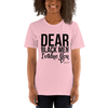 Dear Black Men I Value You Short-Sleeve Unisex T-Shirt - Chocolate Ancestor