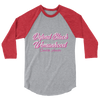 Defend Black Womanhood Unisex 3/4 sleeve raglan shirt - Chocolate Ancestor