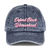 Defend Black Womanhood Vintage Cotton Twill Cap - Chocolate Ancestor