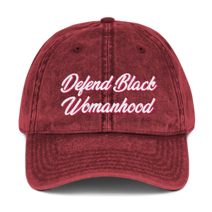 Chocolate Ancestor, LLC- Defend Black Womanhood Vintage Cotton Twill Cap ${varant_title} Vintage hat