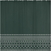 Emerald Mudcloth Boho Shower Curtain