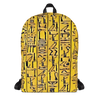 Egyptian Hieroglyhics Bookbag - Chocolate Ancestor