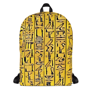Chocolate Ancestor, LLC- Egyptian Hieroglyhics Bookbag ${varant_title} Bookbag