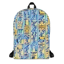 Load image into Gallery viewer, Chocolate Ancestor, LLC- Egyptian Hieroglyhics Bookbag ${varant_title} Bookbag