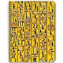 Load image into Gallery viewer, Chocolate Ancestor, LLC- Egyptian Hieroglyphics (Gold) Notebook ${varant_title} Spiral Notebook