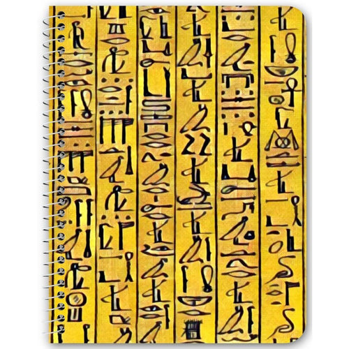Chocolate Ancestor, LLC- Egyptian Hieroglyphics (Gold) Notebook ${varant_title} Spiral Notebook