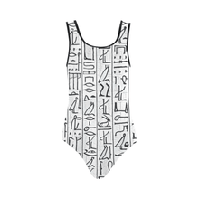 Load image into Gallery viewer, Egyptian Hieroglyphics One Piece Swimsuit - Chocolate Ancestor
