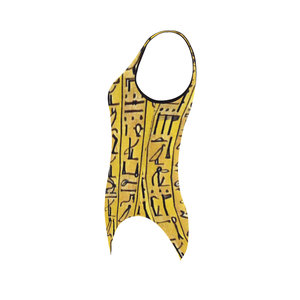 Chocolate Ancestor, LLC- Egyptian Hieroglyphics One Piece Swimsuit ${varant_title} One Piece Swimsuit