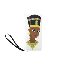 Load image into Gallery viewer, Chocolate Ancestor, LLC- Egyptian Queen Ladies Clutch Purse ${varant_title} Ladies' Clutch Purse