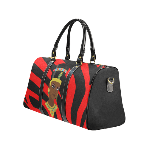 Chocolate Ancestor, LLC- Egyptian Queen Zebra Waterproof Travel Bag (Small & Large) ${varant_title} Travel Bag