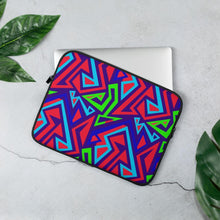 Load image into Gallery viewer, Electric Geometric Laptop Sleeve - Chocolate Ancestor