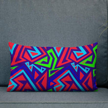 Load image into Gallery viewer, Chocolate Ancestor, LLC- Electric Geometric Premium Pillow ${varant_title} Pillow