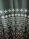 Emerald Mudcloth Boho Shower Curtain - Chocolate Ancestor