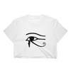 Eye of Horus Ladies Crop Top - Chocolate Ancestor