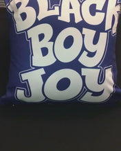 Load and play video in Gallery viewer, Black Boy Joy Square Pillow