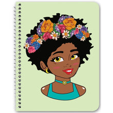 Load image into Gallery viewer, Chocolate Ancestor, LLC- Filter Diva Notebook ${varant_title} Spiral Notebook