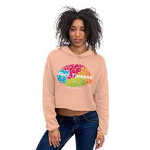 Load image into Gallery viewer, Chocolate Ancestor, LLC- Free Thinker Unisex Crop Hoodie ${varant_title} crop hoodie