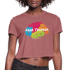Free Thinker Women's Crop Top (Style 2) - Chocolate Ancestor
