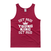 Get Paid Young King (White) Men's Tank top - Chocolate Ancestor