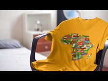 Load and play video in Gallery viewer, African Flags Short sleeve fitted unisex t-shirt