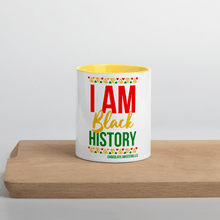 Load image into Gallery viewer, Chocolate Ancestor, LLC- I Am Black History Mug with Color Inside ${varant_title} Mug