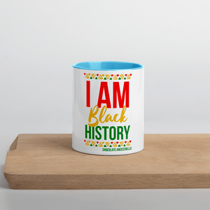 Chocolate Ancestor, LLC- I Am Black History Mug with Color Inside ${varant_title} Mug