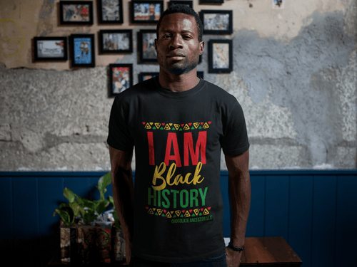 Chocolate Ancestor, LLC- I Am Black History Short-Sleeve Unisex T-Shirt ${varant_title} Unisex T-shirt