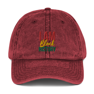 Chocolate Ancestor, LLC- I Am Black History Unisex Vintage Cotton Twill Cap ${varant_title}