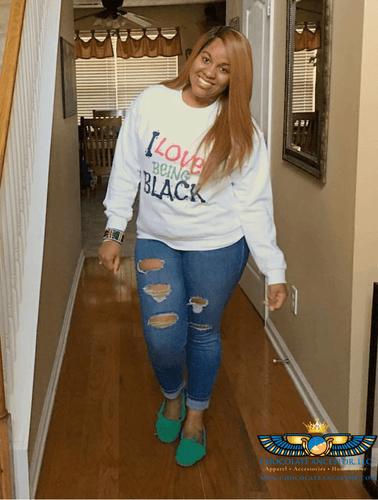 Chocolate Ancestor, LLC- I Love Being Black (Flavors) Sweatshirt (Unisex) ${varant_title} Unisex Sweatshirt
