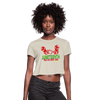 Juneteenth Free-ish Since 1865 Women's Crop Top (Style 2) - Chocolate Ancestor