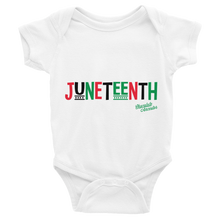 Load image into Gallery viewer, Chocolate Ancestor, LLC- Juneteenth RBG Infant Bodysuit ${varant_title} Infant one-piece