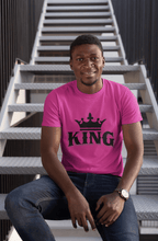 Load image into Gallery viewer, Chocolate Ancestor, LLC- King w/ Crown (Black) Short-Sleeve Unisex T-Shirt ${varant_title} Men's T-Shirt
