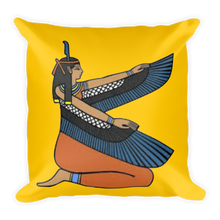 Load image into Gallery viewer, Chocolate Ancestor, LLC- Ma'at (Gold) Square Pillow ${varant_title} Pillow