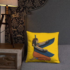 Chocolate Ancestor, LLC- Ma'at (Gold) Square Pillow ${varant_title} Pillow
