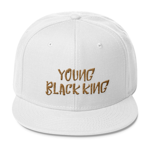 Chocolate Ancestor, LLC- Young Black King- Gold Wool Blend Snapback ${varant_title} Snapback Hat