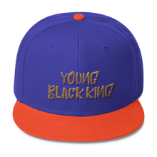 Load image into Gallery viewer, Chocolate Ancestor, LLC- Young Black King- Gold Wool Blend Snapback ${varant_title} Snapback Hat