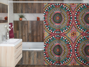 Tribal Kaleidoscope Shower Curtain