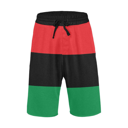 Chocolate Ancestor, LLC- Pan African RBG All Over Men's All Over Print Casual Shorts ${varant_title} Men's Shorts