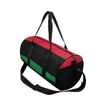 Load image into Gallery viewer, Chocolate Ancestor, LLC- Pan African RBG Flag Afrocentric Waterproof Travel Duffel Bag ${varant_title} Duffel Bag