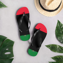 Load image into Gallery viewer, Chocolate Ancestor, LLC- Pan African RBG Unisex Flip-Flops ${varant_title}