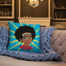 Load image into Gallery viewer, Chocolate Ancestor, LLC- Pop Starburst Diva Square Pillow ${varant_title} Pillow