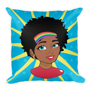 Chocolate Ancestor, LLC- Pop Starburst Diva Square Pillow ${varant_title} Pillow