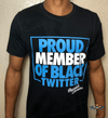 Proud Member of Black Twitter (Blue/White) Short-Sleeve Unisex T-Shirt - Chocolate Ancestor